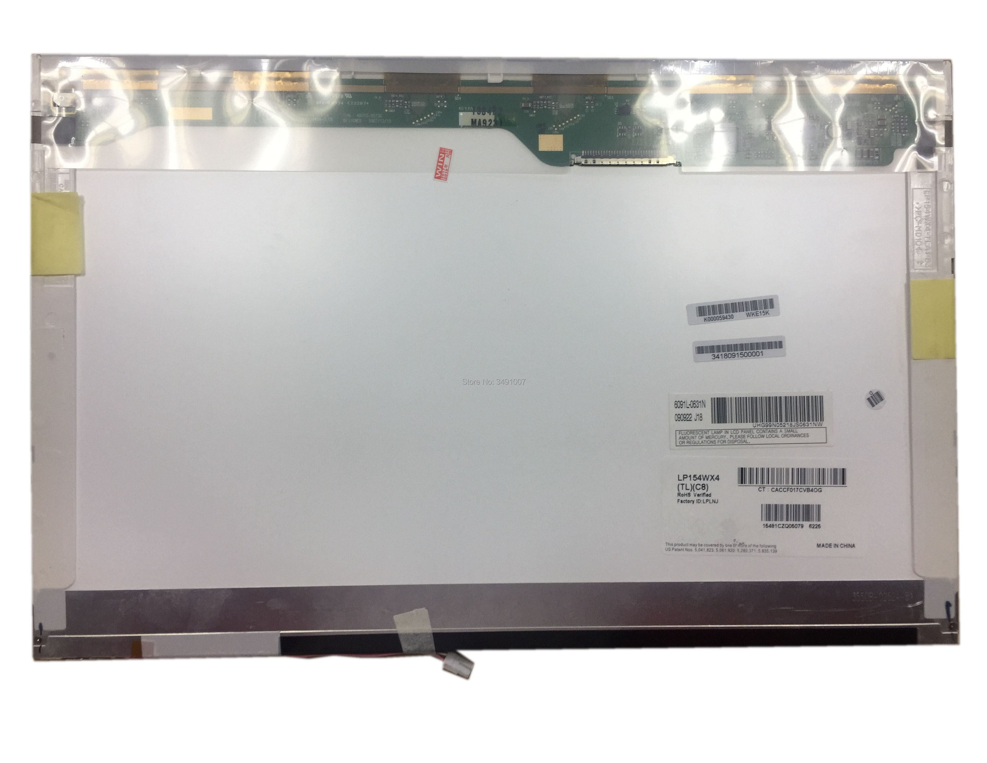 LP154WX4 TLC8 fit B154EW02 V.6 B154EW08 V.0 B154EW08 V.1 LP154WX3-TLC1 LTN154X3-L02 15.4 polegada da tela do laptop lcd 30 pin