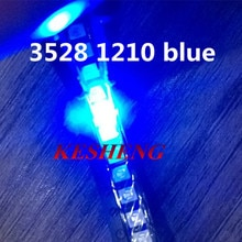 1210 3528 SMD LED Ultra Bright Blue Light Diode 470-475NM 3.0-3.6V Chip led lamp high lighting  1000pcs/lot