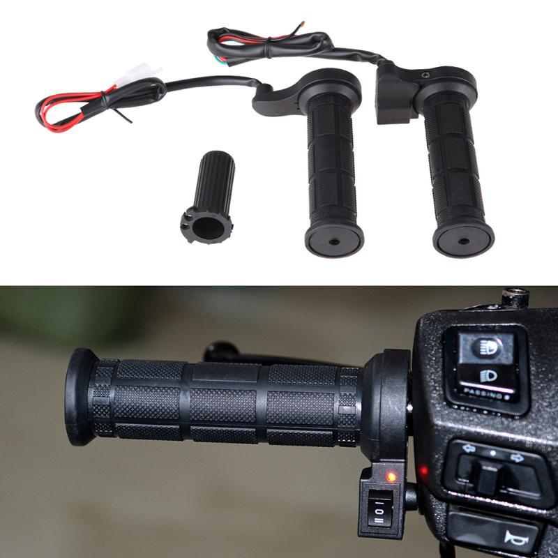 Empuñadura eléctrica moldeada a mano de 22mm Juego de empuñaduras calefactoras de Motociclismo
