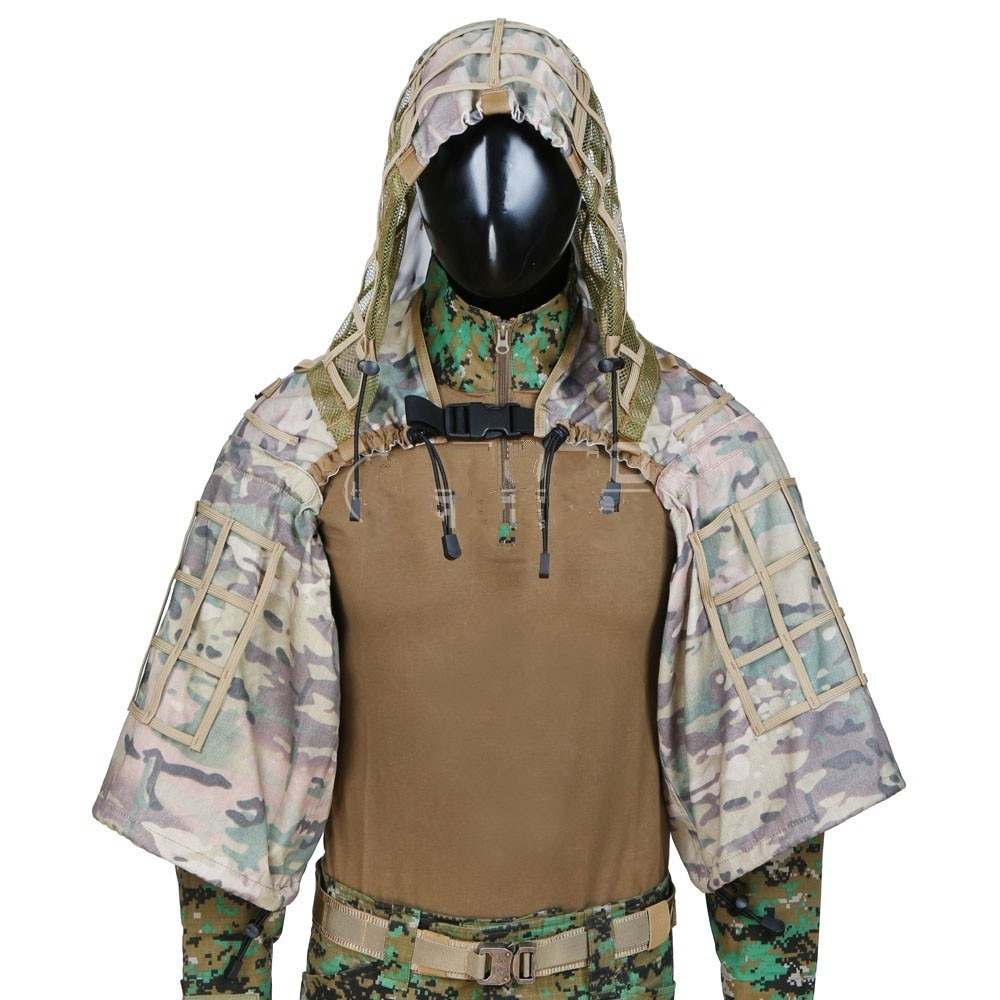 Army Fans Outdoor Shooting Training Sniper Ghillie Uniform Men Women Field CS Hunting Bird Watching Camouflage Hide Ghillie Suit enlarge