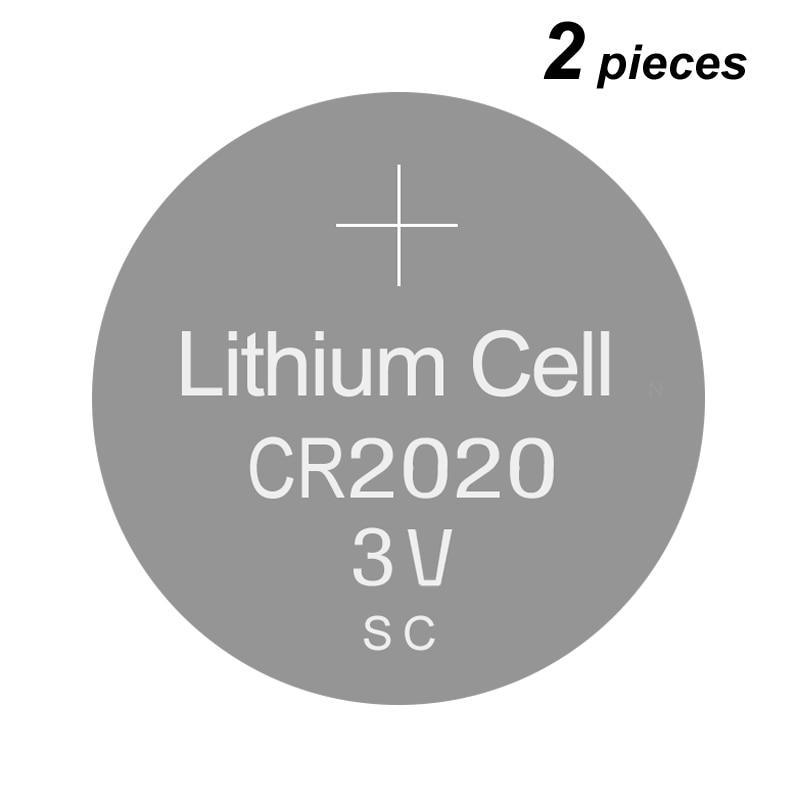 Pila de botón de litio pilas de celda de monedas CR2020 3V 2 piezas celdas de reloj CR 2020 para escribir/dibujar/escribir a mano tableta