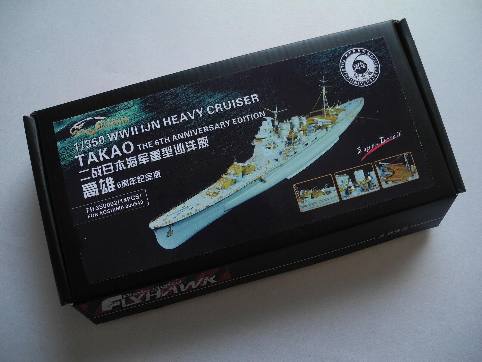 Flyhawk 350002 1/350 IJN crucero pesado Takao para Aoshima de calidad superior