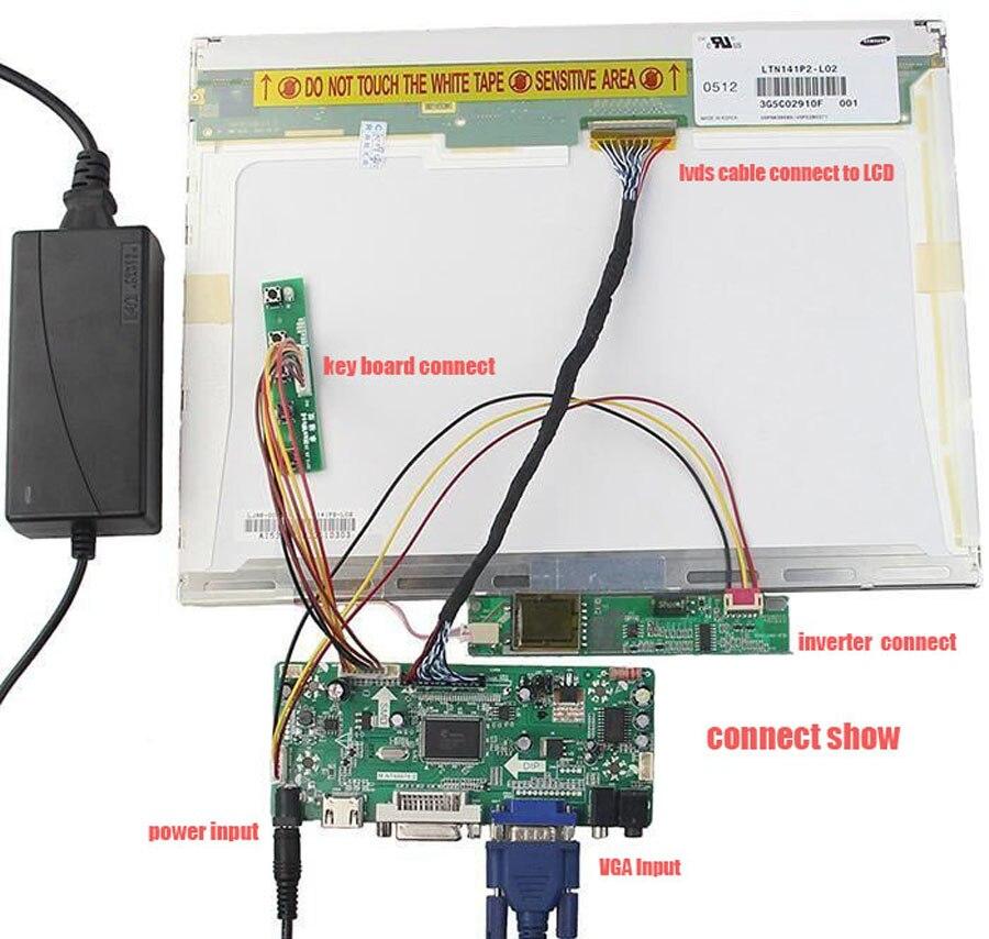 "Kit for LP171WP4-TL03 Signal VGA 30pin Controller board 17.1"" HDMI DVI 1 lamps LVDS Panel monitor Driver screen 1440X900"