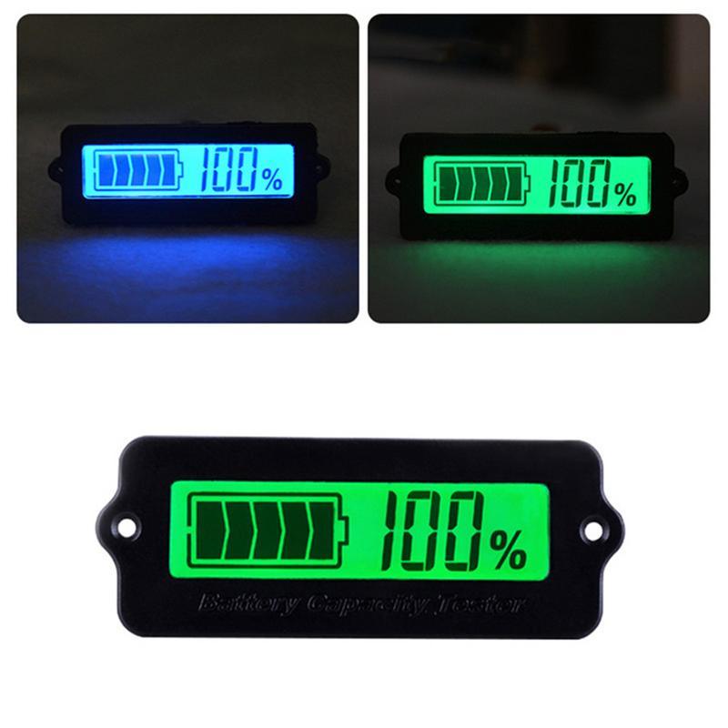 Indicador de capacidad de batería ajustable de 12 V/24 V/36 V/48 V Indicador de ácido de plomo indicador LCD pantalla Digital voltímetro Panel de visualización LY6W