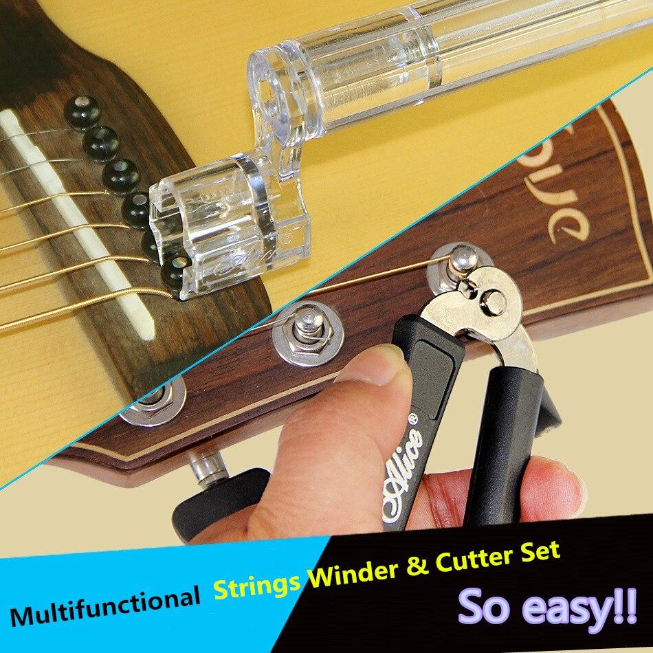 Juego de cuerdas y cortadores multifuncionales ALICE A1009A para guitarra y ukelele violín