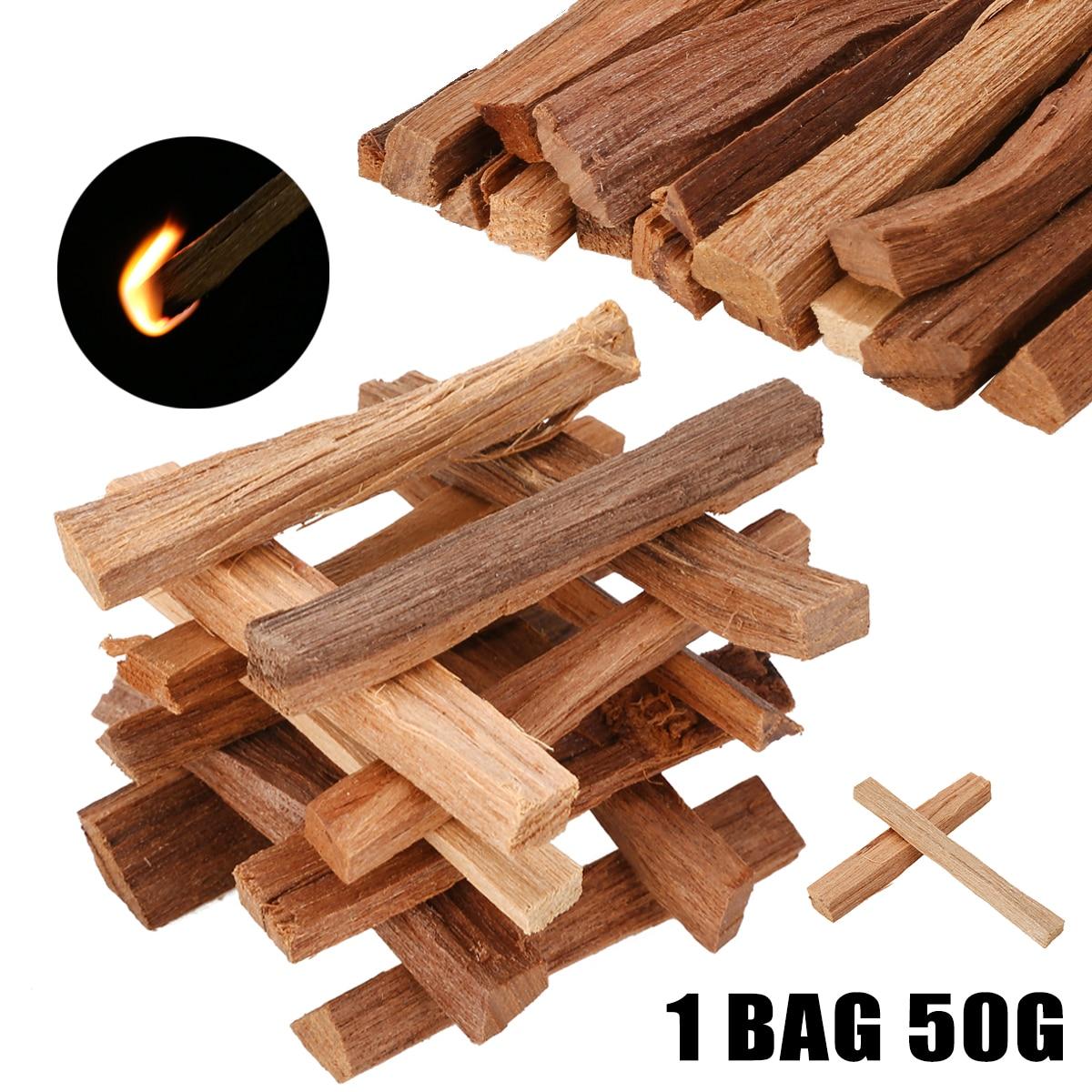 50g 7CM Aromatic Fragrance Sandal Wood Chips Sandalwood Incense Sticks Irregular Resin Home Office DIY Craft Supplies Mayitr