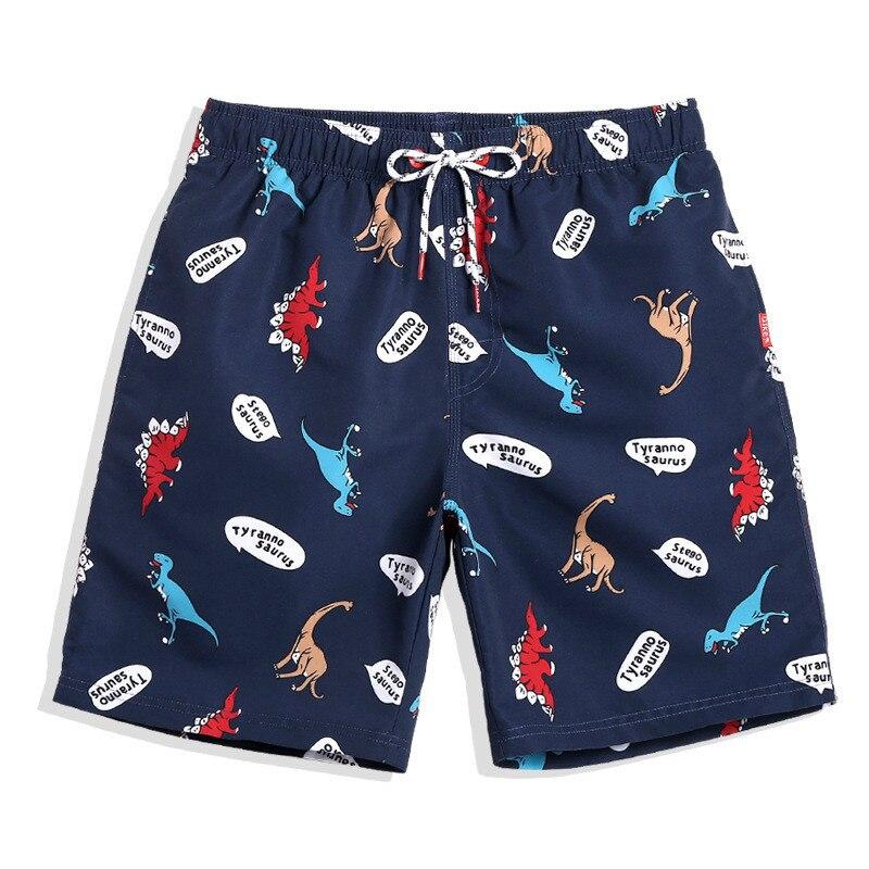 Pantalones cortos de secado rápido para nadar de verano para hombres, pantalones cortos estampados con forro de malla para playa, bañadores para correr, nadar, playa, pantalones cortos de surf