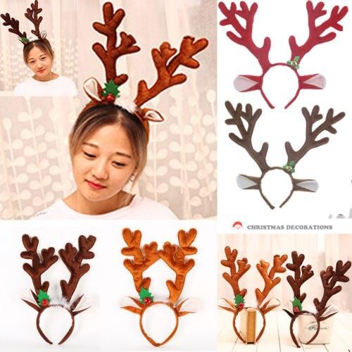 Lovely Women Girls Christmas Headband Cute Reindeer Elk Antlers Ears Hair Hoop arrival Women Christmas Party Xmas Headwear