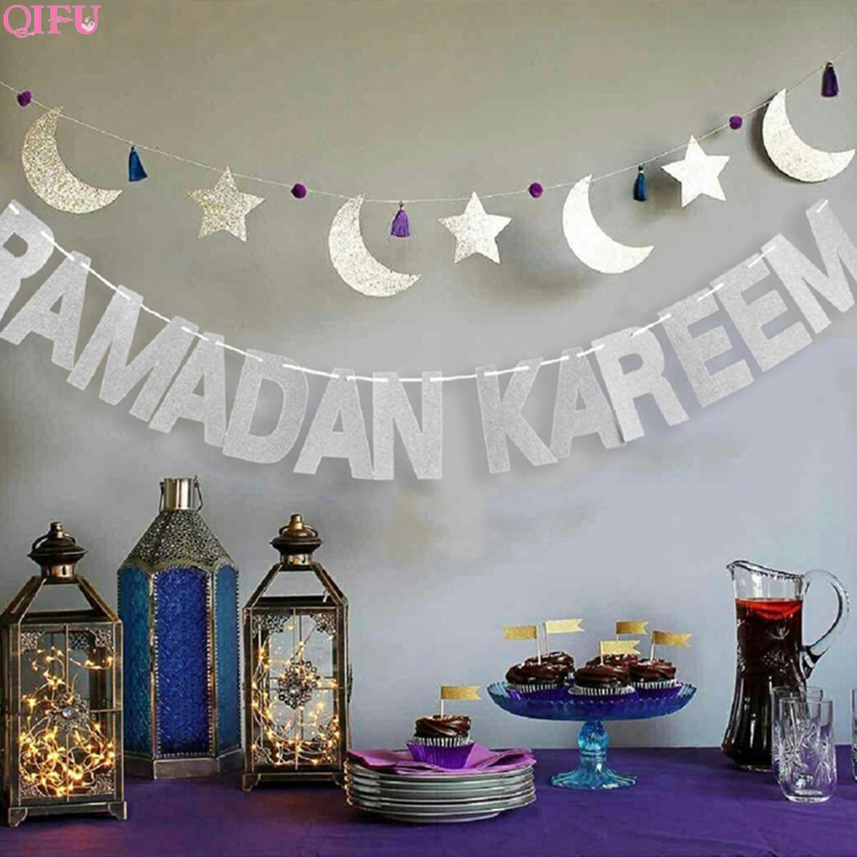 Balões Decoração Decorações Ramadan E Eid Eid Bjd Decoração Banner Papel RAMADAN MUBARAK MUBARAK Ramadã Muçulmano Eid Mubarak Decor