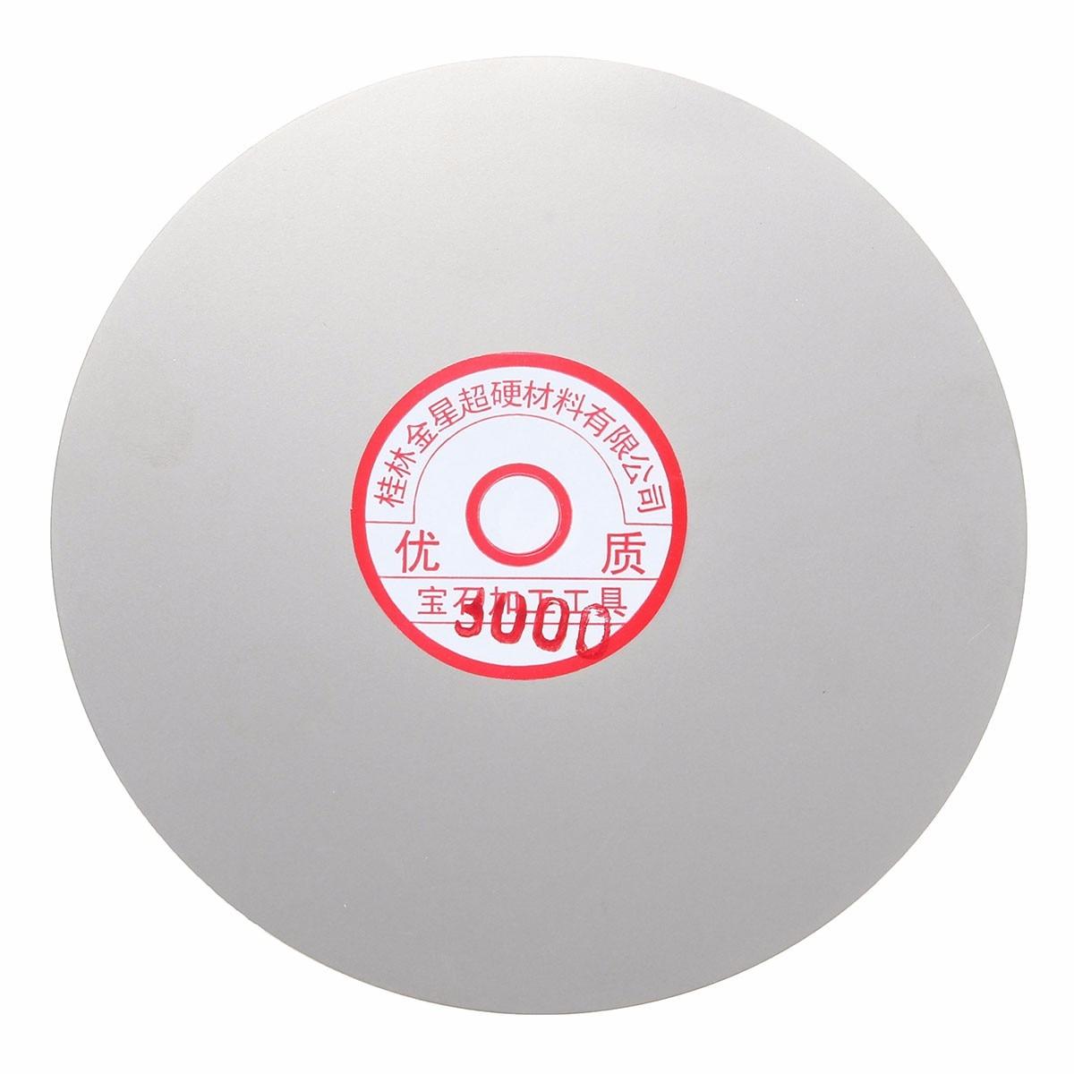 3 шт. набор шлифовальных дисков 6 600 1500 3000 зернистость с алмазным покрытием плоский круг для ювелирных изделий стекло рок диски с алмазным по...
