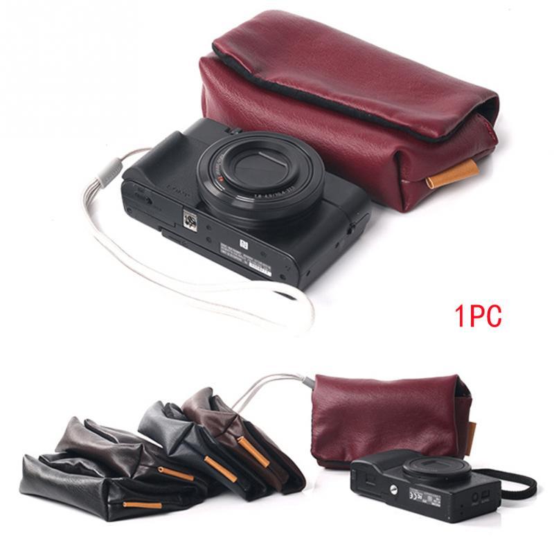 Bolsa de almacenamiento para Cámara Simple, funda suave para Sony, ligera, portátil, Digital, resistente al agua, resistente al desgaste, bolsa de mano para cámara
