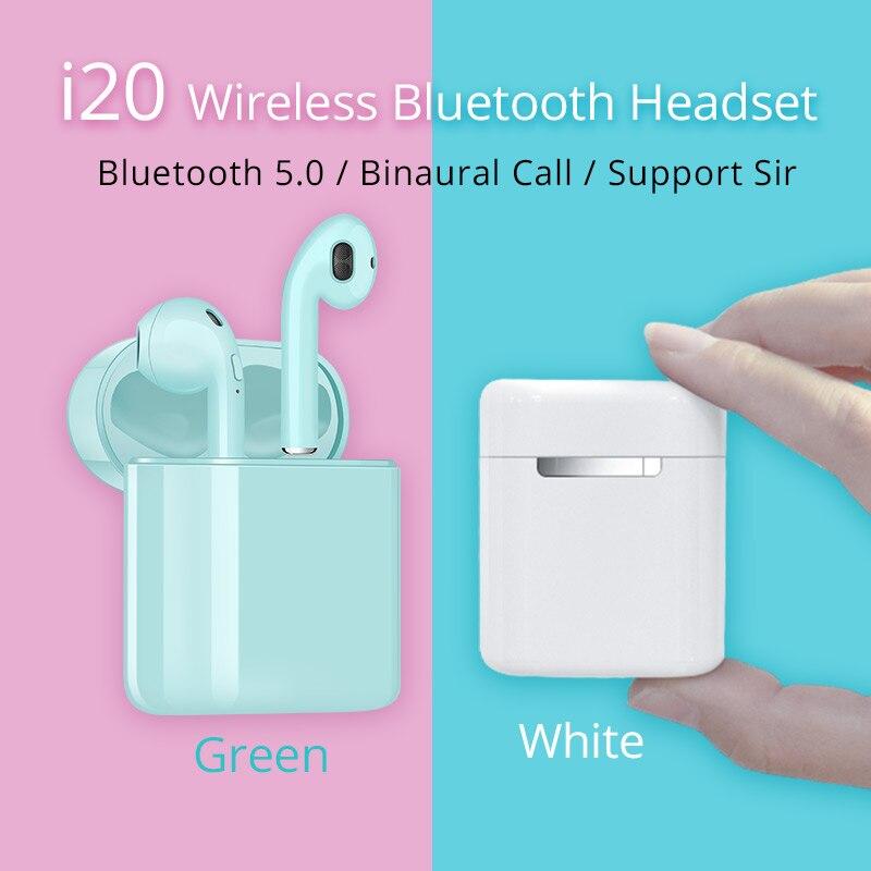 I20 TWS inalámbrica mini auriculares Bluetooth 5,0 auriculares PK w1 h1 chip PK i10 i11 i10 tws i13 i14 i15 i16 i30 i60 i80 i100 i90 tws