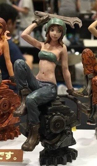 Kit de figuras de resina cráneo 1/20 Ma. K mantenimiento chica sin pintar garaje Kit de modelismo de resina