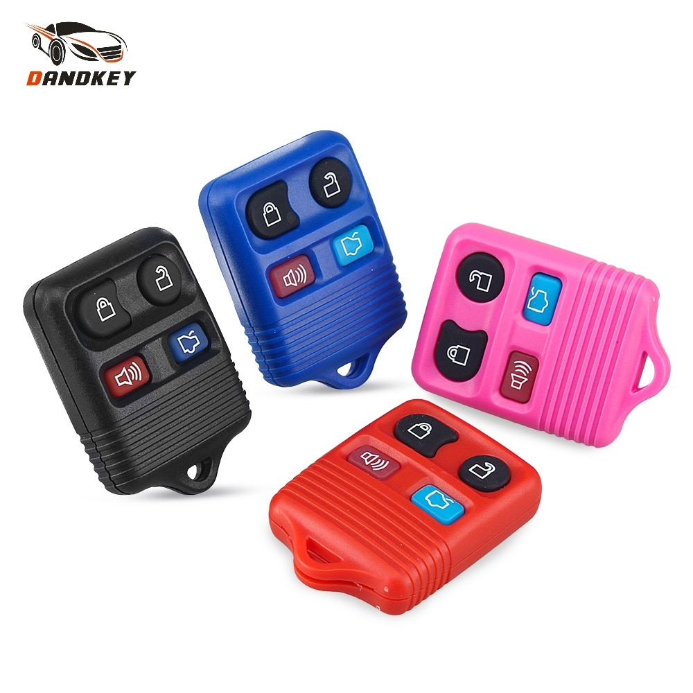 Carcasa para mando a distancia Dandkey de 4 botones para coche, carcasa para Ford Mustang Focus, Mercury Town, Grand Car Styling