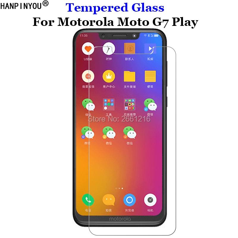 Para Motorola Moto G7play Anti-rasguño de vidrio templado resistente 9H 2.5D Protector de pantalla Premium Protector de película Motorola Moto G7 Play