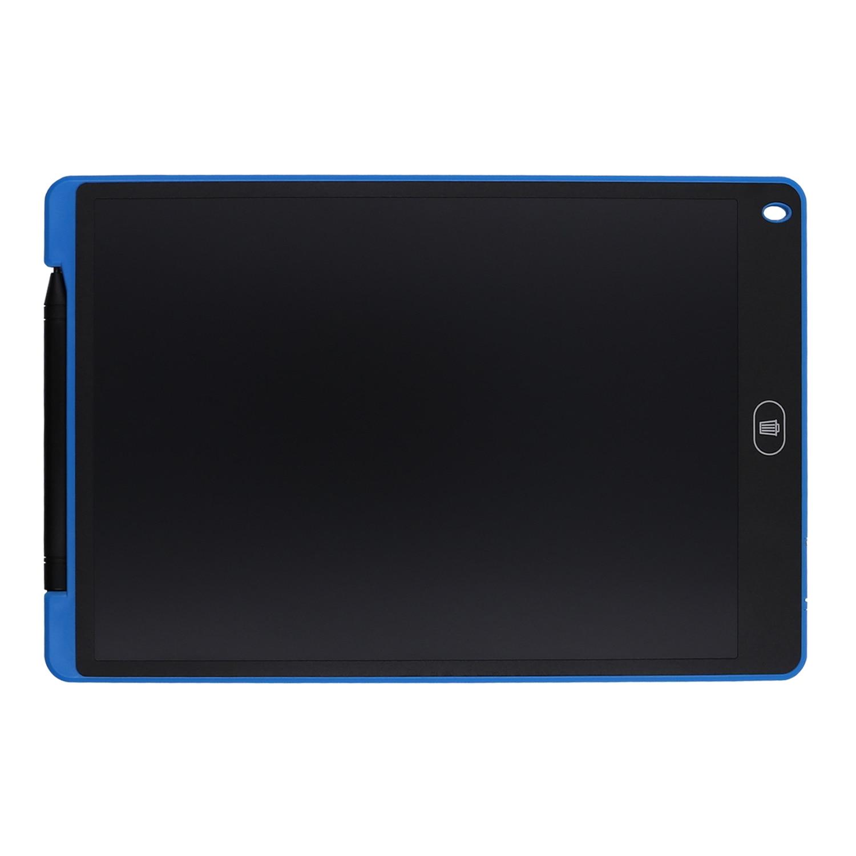 Tableta LCD e-writer de 12 pulgadas, tablero Boogie negro para escribir, dibujar, enviar mensajes y notas (azul)