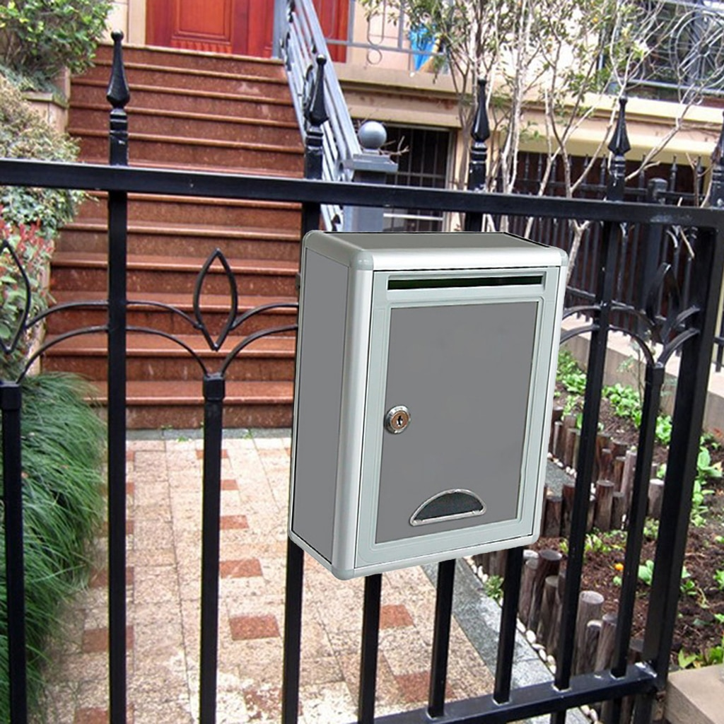 Высокое качество алюминиевый запираемый безопасный почтовый ящик ретро домашний сад письмо почтовый ящик садовое украшение