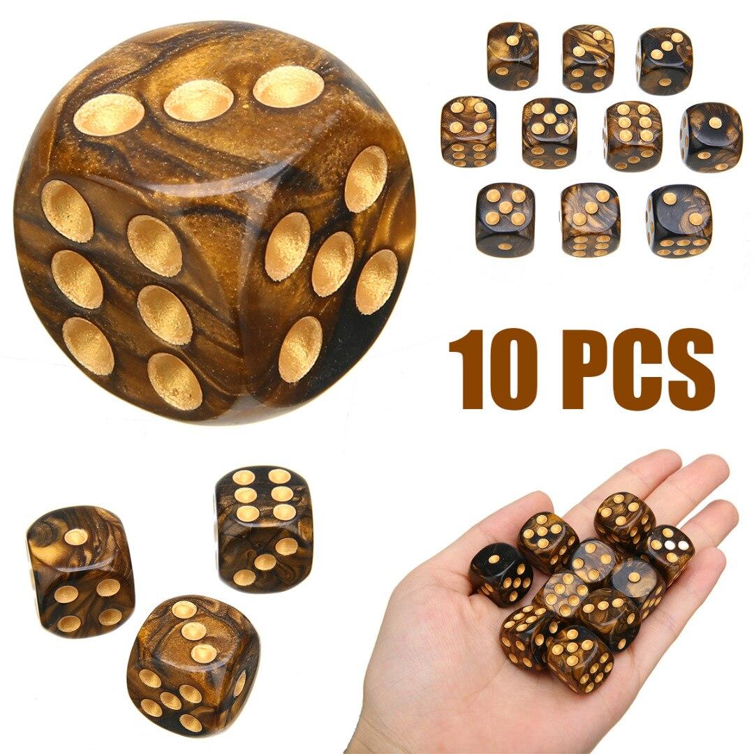 10 Teile/satz Neue Moderne Sechs Seitige Spiel Würfel Gemischt Farbige Würfel Spiel Spielen High Qualität Würfel Für Parteien TRPG Gamer