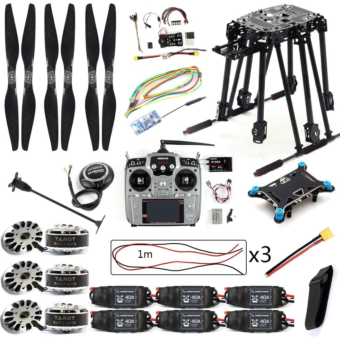 DIY Kit PIX4 Flight Control ZD850 Rahmen Kit M8N GPS Fernbedienung Radio Telemetrie ESC Motor Requisiten RC 6- achse Drone F19833-D