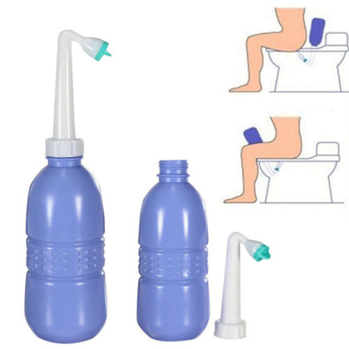 Us 450 ml portátil bidé handheld travel toalete handheld mão spray assento de água