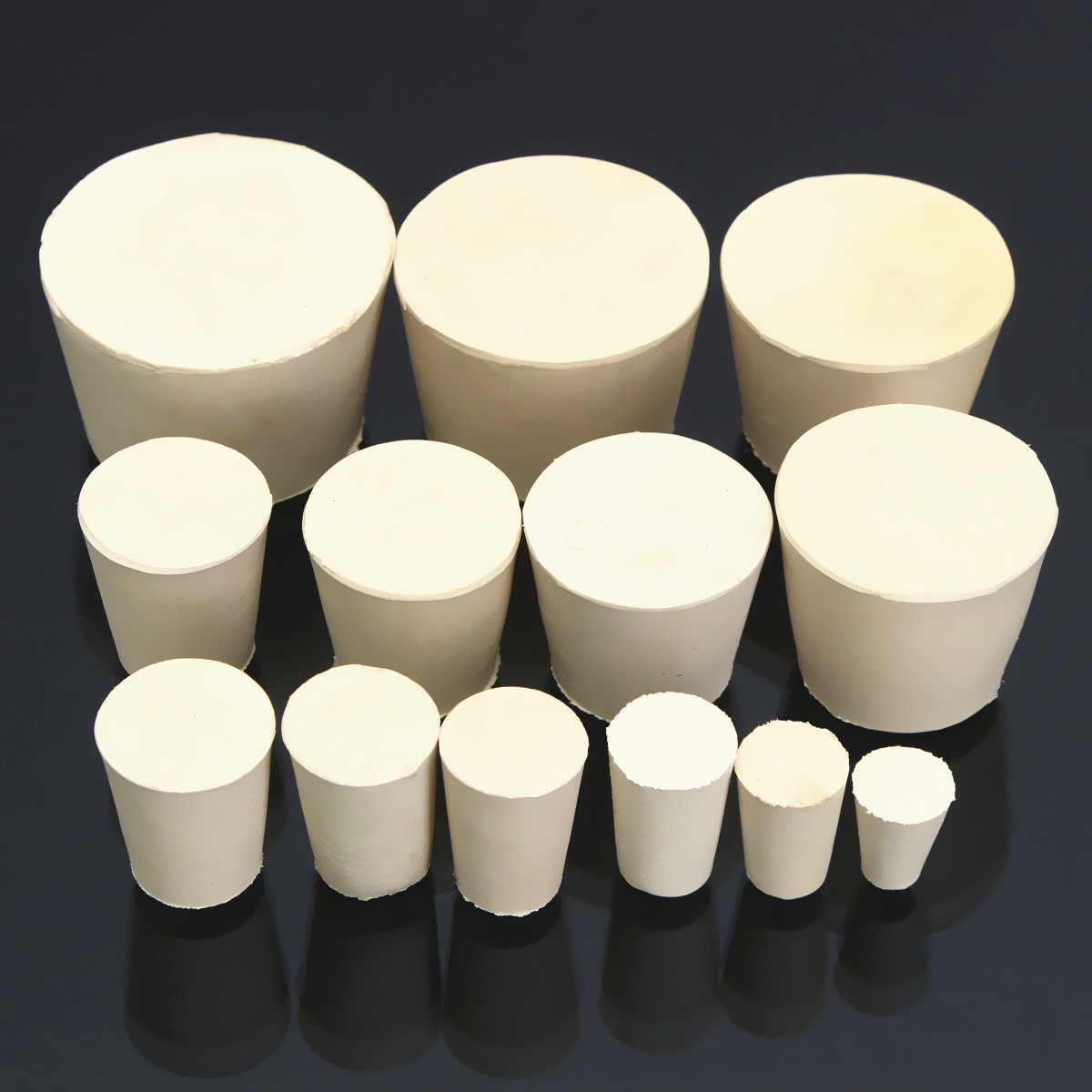 Лабораторные резиновые пробки колба коническая трубка твердая белая щелочестойкая лабораторная герметичная пробка