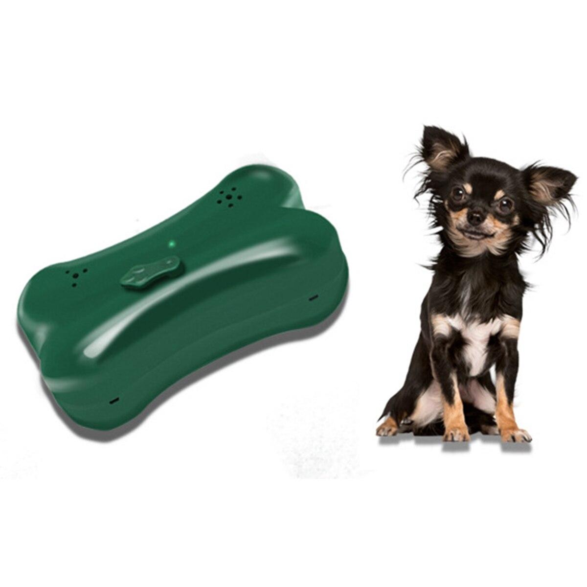 1 piezas ABS Anti ladridos dispositivo detener ladridos de perro de disuasión silenciador humanamente corteza ultrasonidos máquina de Control