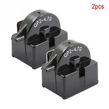 2 pçs/lote QP2-4.7 PTC Relé de Arranque Único Pé Compressor Refrigerador Geladeira