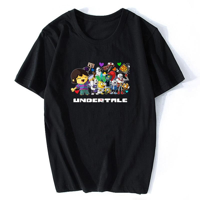 Anime Undertale T Shirt Skull Brother Sans Papyrus Cartoon Printed T Shirts Short Sleeve Tees O-Neck Mens T-shirts Fashion