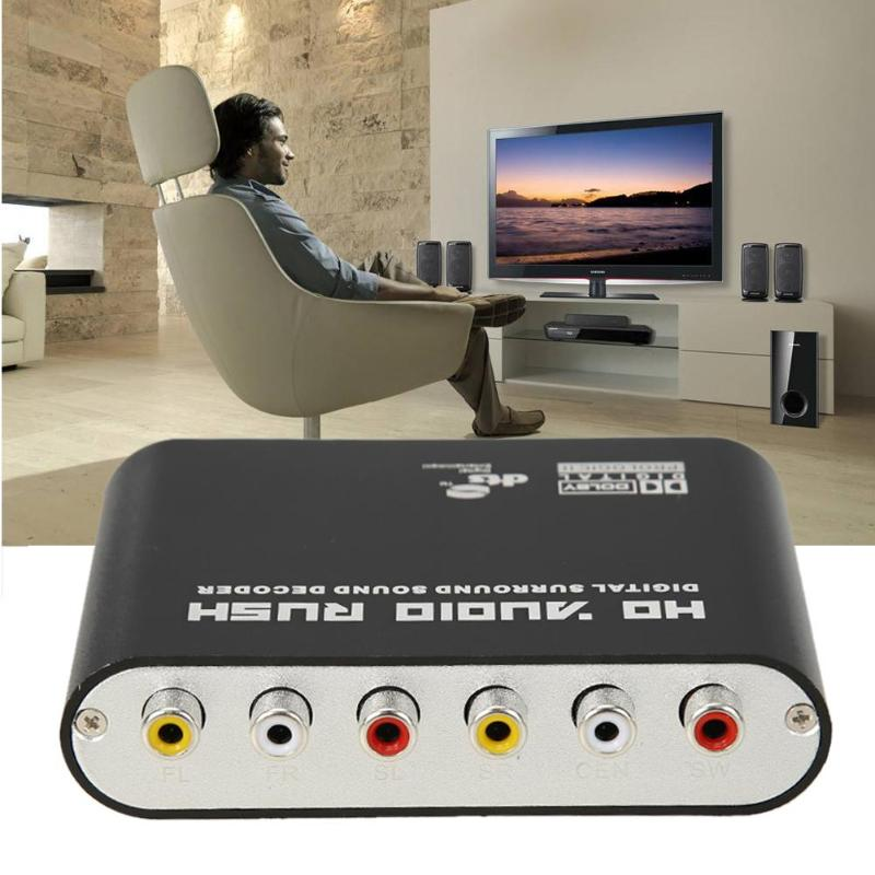 DTS AC3 5,1 CH SPDIF Coaxial Digital Audio DTS/AC-3 zu 5,1 Analog Decoder Konverter RCA Ausgang Adapter Surround sound Decorder