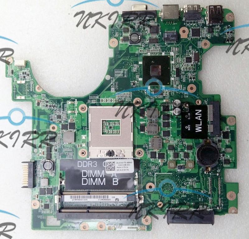 لوحة أم لوحة نظام 100% تعمل YWY70 74TPY DAUM3BMB6E0 REV:E REV: A00 PWB: Y7GF3 PGA989 لأجهزة الكمبيوتر المحمول Dell Inspiron 1764