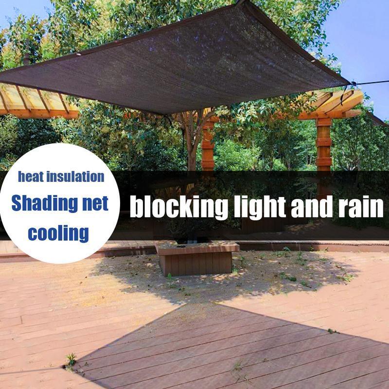 Cortina bloqueadora solar para exteriores, Red de aislamiento de techo encriptado con protección solar para el balcón del jardín de refrigeración