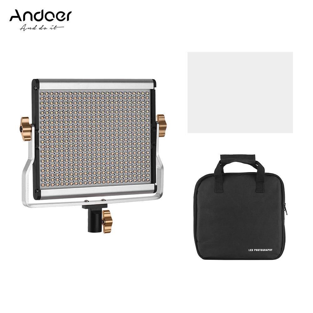 Andoer 480 LED 3200-5600 كيلو 29 واط الفيديو الضوئي المحمولة لوحة ملء في مصباح قابل للتعديل ضوء للاستوديو التصوير تصوير الفيديو