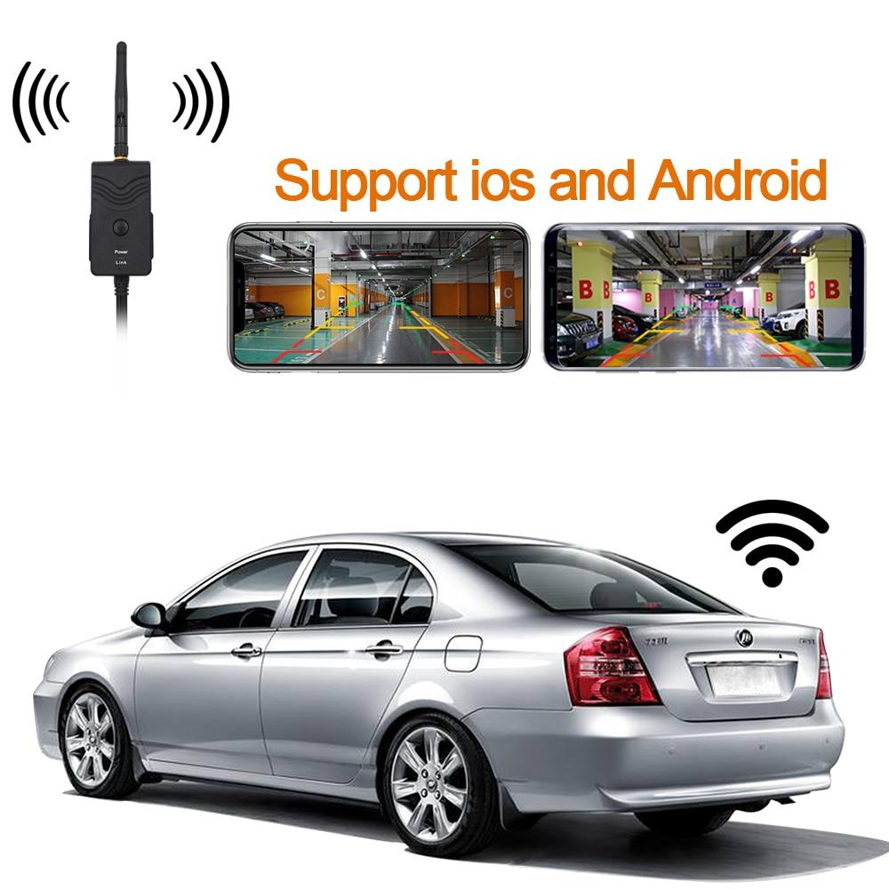 ¡Recién llegado! Transmisor WIFI para coche inalámbrico cámara de visión trasera para marcha atrás para iPhone y Android Teléfono Móvil