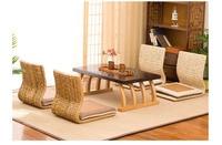 2pcs Handmade Cattail Straw Japanese Floor Legless Chair Sitting Living Room Furniture Asian Traditional Tatami Zaisu Chair