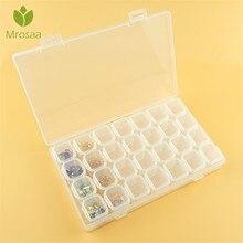 Venda quente 28 slots caixa de armazenamento plástico ajustável caixas de armazenamento caixa para jóias diamante bordado artesanato grânulo pílula ferramenta de armazenamento