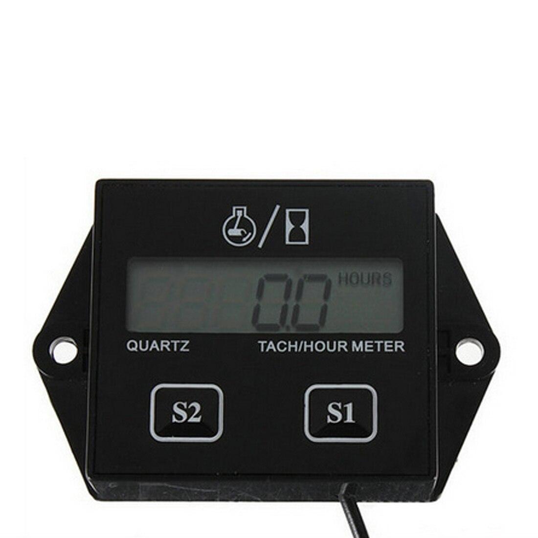 Новое поступление ЖК-дисплей Тахометр RPM Тахометр, датчик вращения Цифровой тахометр двигателя счетчик часов для автомобиля лодки мотоцикл...