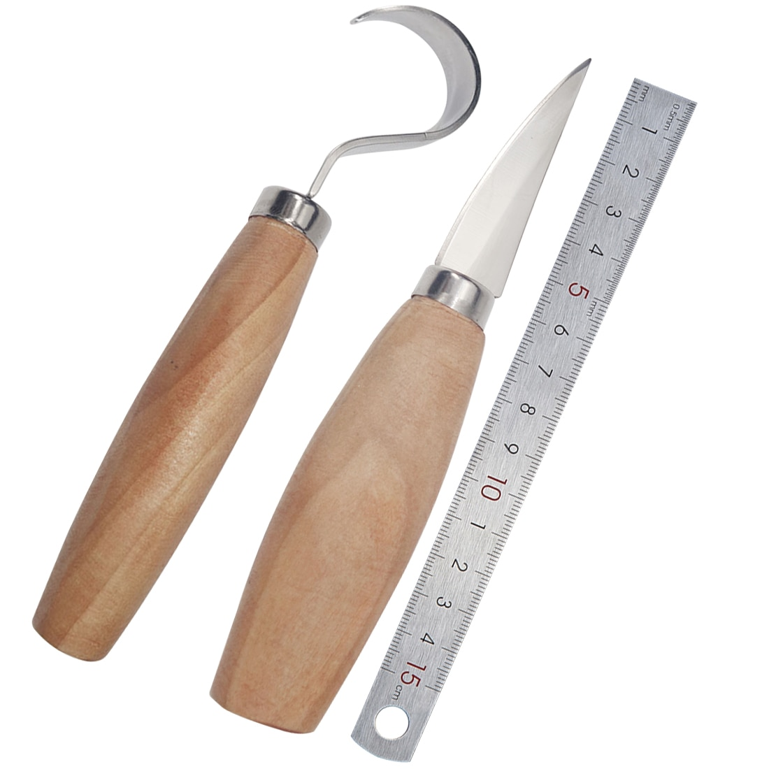 Фото - Woodcut Tools Kit 2PCS/Set Stainless Steel Woodcarving Cutter Woodwork Sculptural DIY Wood Handle Spoon Carving Knife chisel woodworking cutter hand tool set wood carving knife diy peeling woodcarving sculptural spoon carving cutter carving knife