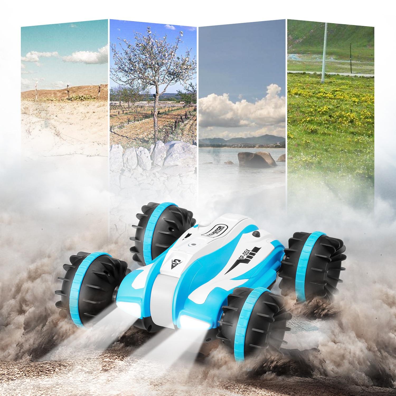 Potente diseño RC Cars 2,4 GHz 6 canales coche anfibio rotación de 360 grados Control remoto de juguete juguetes regalos