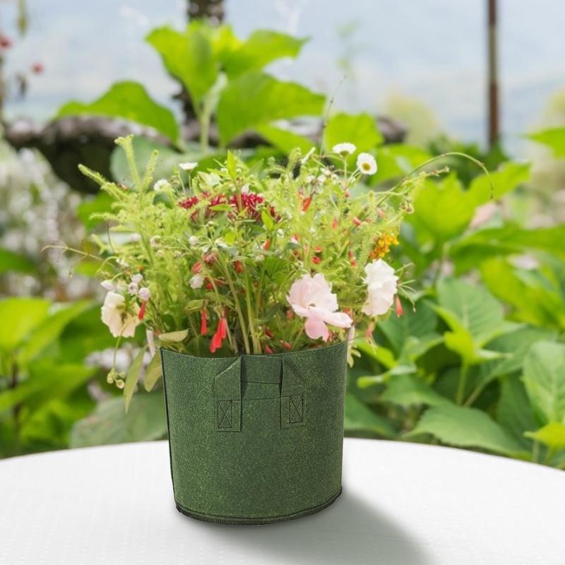 Bolsas de plantación de jardín maceta de nutrición maceta de flores espesada macetas de tela tejida de patatas verdes
