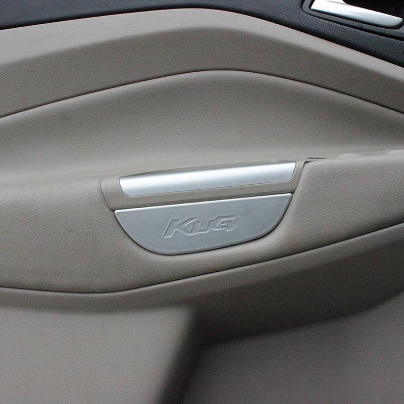 My Good Car, caja de manija de puerta delantera cromada, puertas de almacenamiento, caja de reposabrazos para Ford Kuga Escape 2013 - 2018
