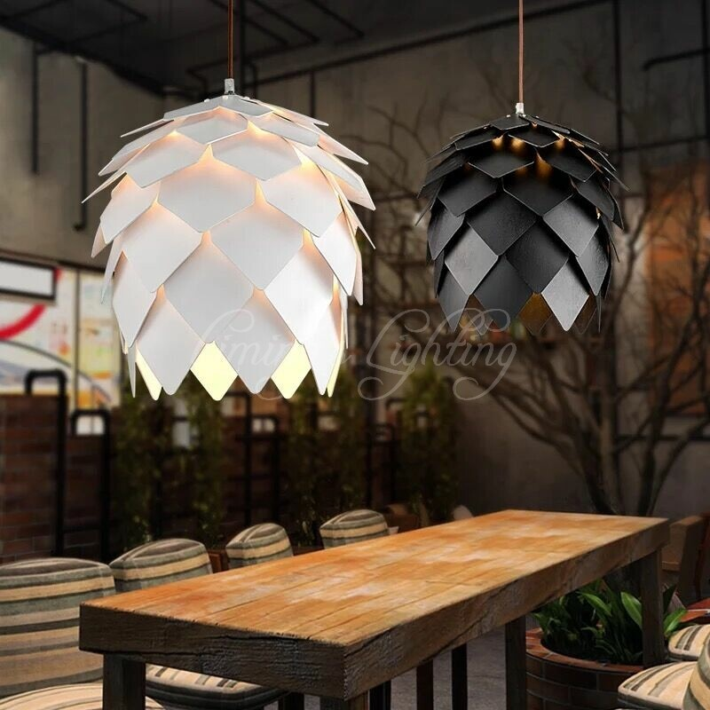 European OAK Pinecone Wood wooden Pendant Lights Lamps Vintage DIY Creative Edison Bulb Japan Rural Suspension Hanging Lamparas  - buy with discount