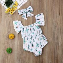 Pudcoco Baby Girl Jumpsuits 0-24M Cute Newborn Baby Girl Clothes Jumpsuit Bodysuit Sunsuit Outfits H