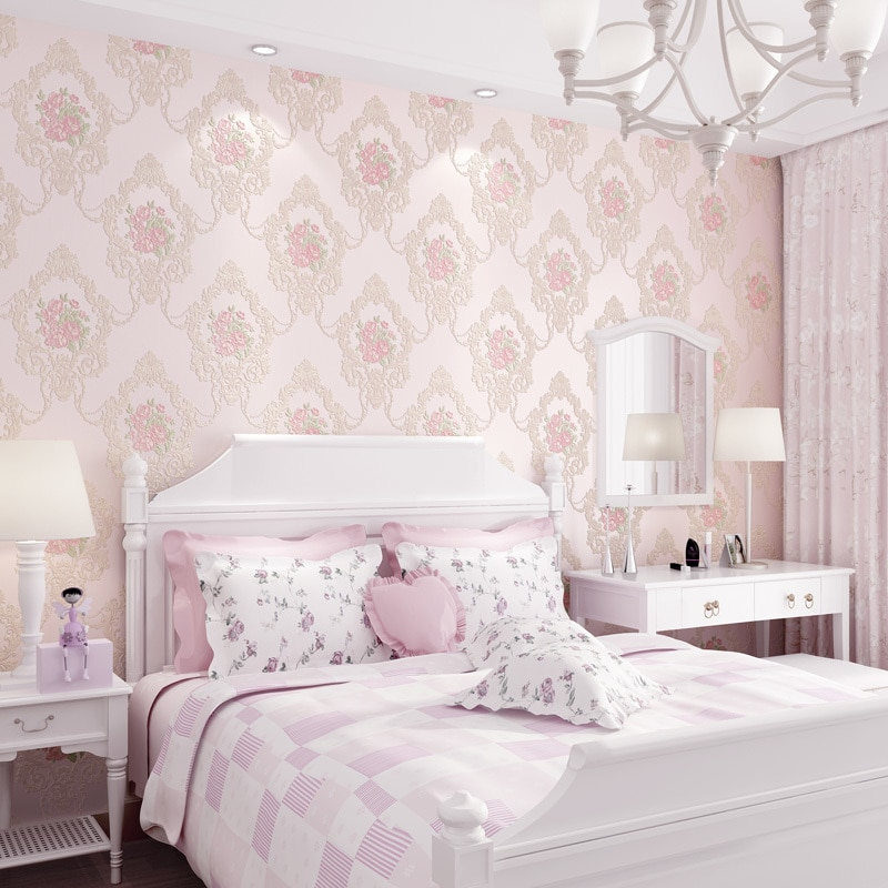 Beautiful Europe Flowers Wallpaper Self Adhesive Non-woven 3d Floral Wallpapers Roll Living Room Bedroom Mural Wall Paper Qz104 beautiful europe flowers wallpaper self adhesive non woven 3d floral wallpapers roll living room bedroom mural wall paper qz104