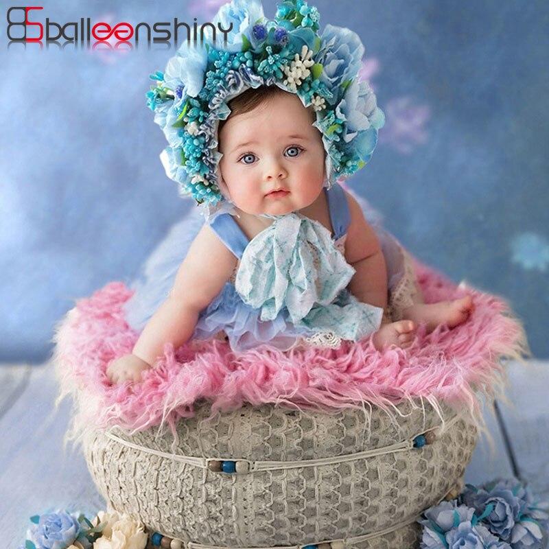 Balleenshiny bandana do bebê menina headbands recém-nascido fotografia adereços para lua cheia infantil faixa de cabelo colorido flor headwear