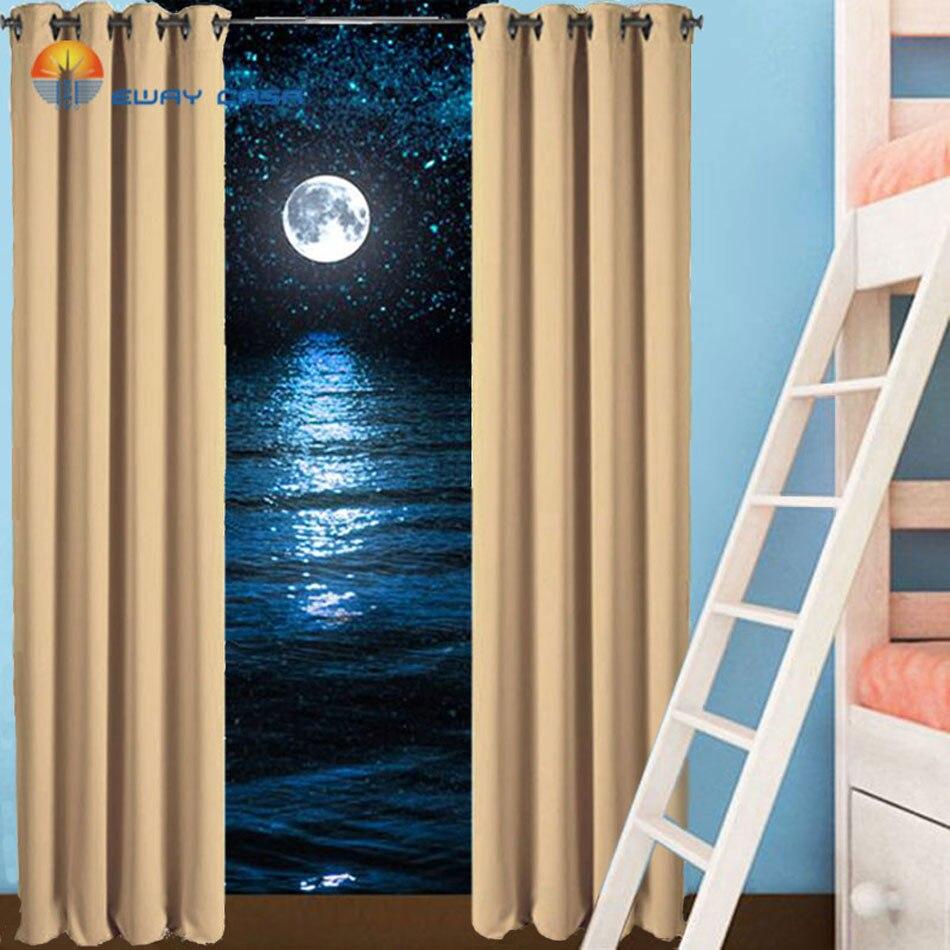 EWAY CASA impermeable apagón Rosa cortinas de ventana cortinas para sala de...