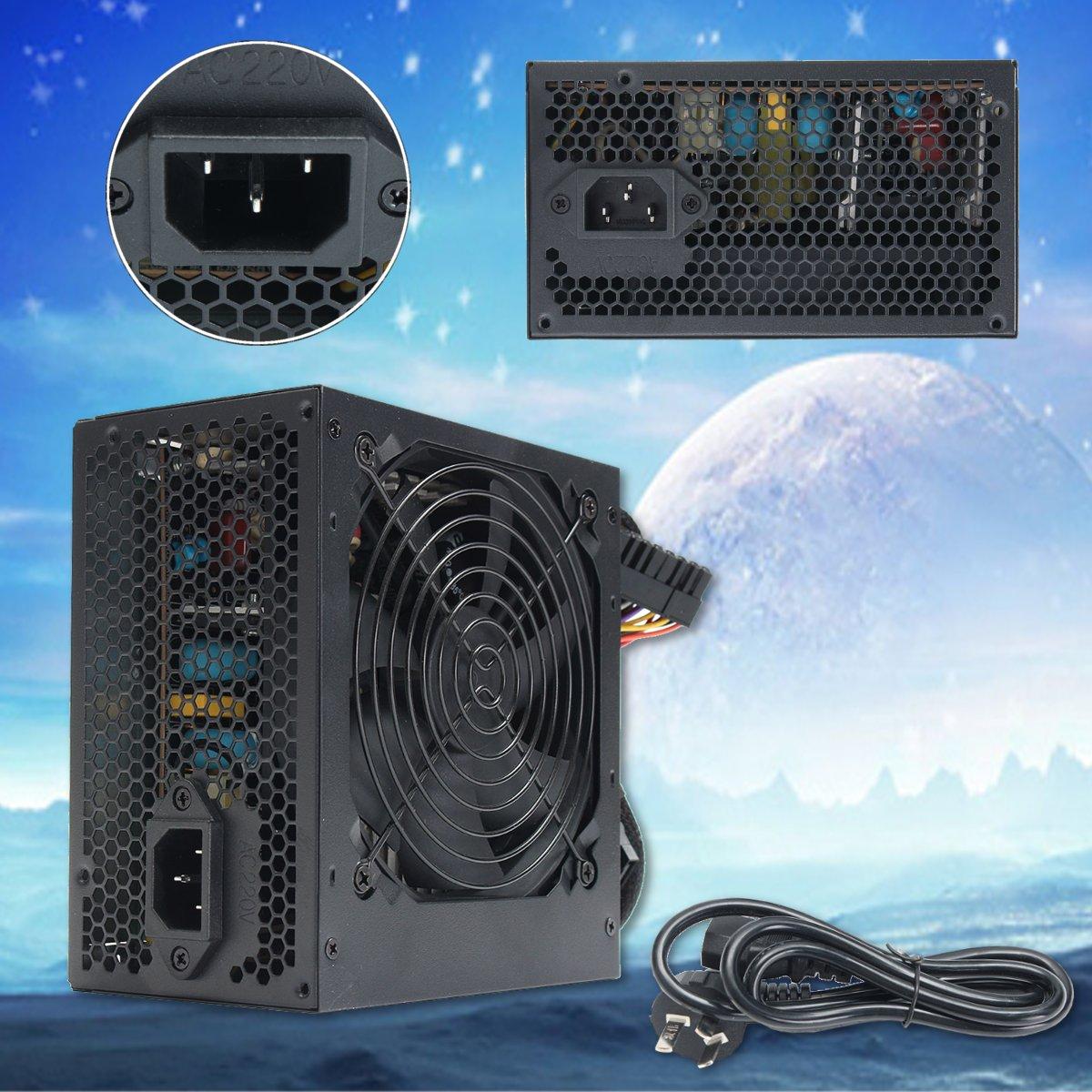 350W 650W الذروة-PSU ATX 12V الألعاب PC امدادات الطاقة 24Pin/موليكس/Sata 12 سنتيمتر مروحة الكمبيوتر امدادات الطاقة ل BTC