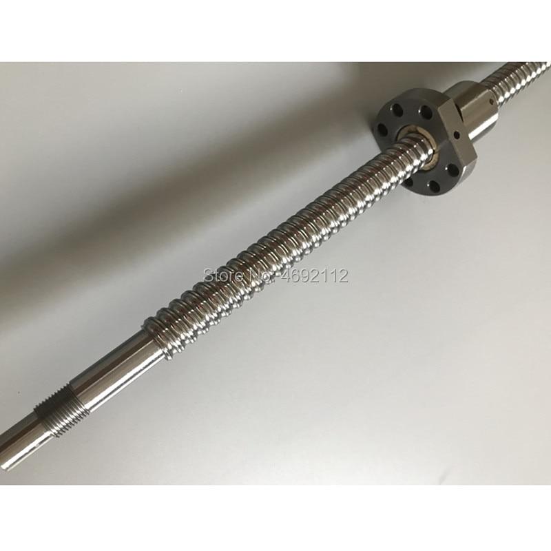 SFU2010 650 700 750 800 850 900 1000 1050 мм шариковый винт BK15/BF15 Торцевая обработка + шариковая гайка CNC части