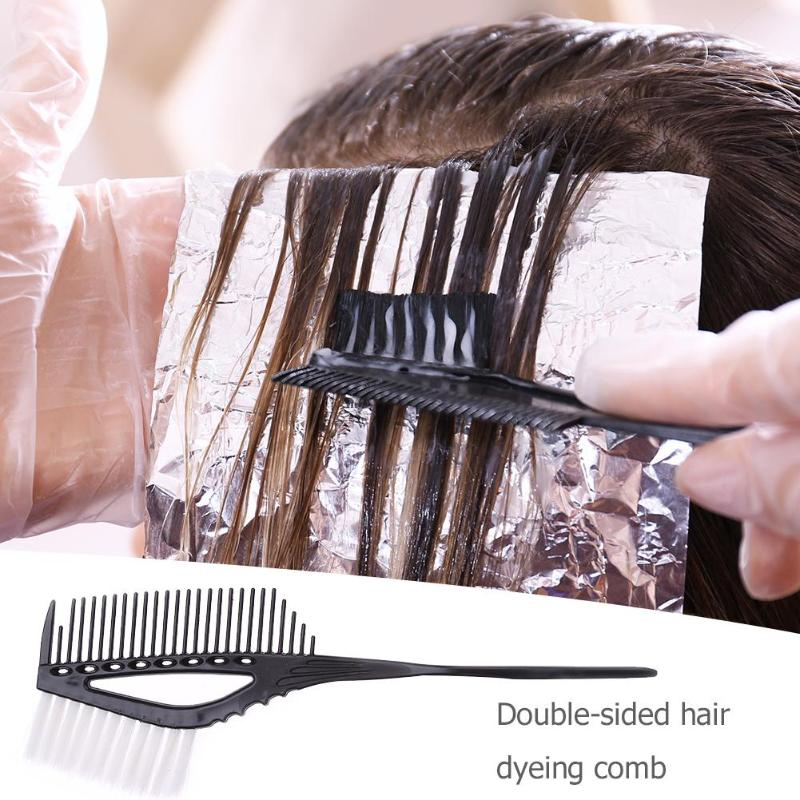 Peine para tinte de pelo de plástico en 3 colores, cepillo para tinte, tinte de salón de belleza, cepillo de tinte colorante, herramientas de modelado de pelo de peluquería de alta calidad