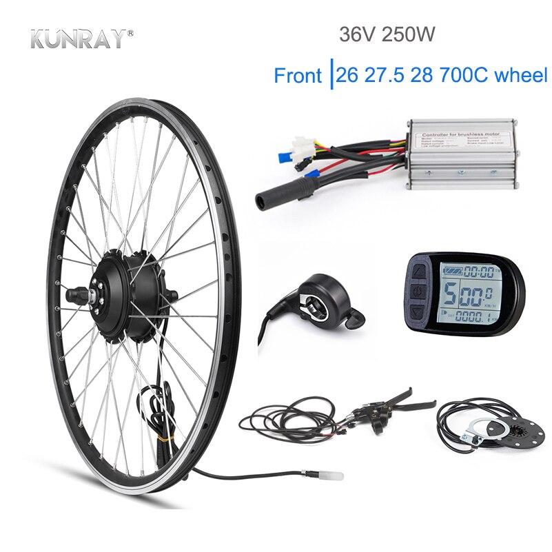 KUNRAY 20 inch Electric Bike Kit BLDC 36V 250W EBike Conversion Kit With Cut-off Power Brake No Battery kit Bicicleta Electrica