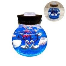 Veilleuse créative magnifique lumière daquarium   Belle lumière à assembler soi-même Durable, Simulation de Jellyfish pour décoration de la maison, fête de la saint-valentin